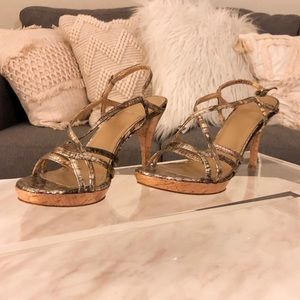 Stuart Weitzman 💜 Python Embossed Sandals 🐍